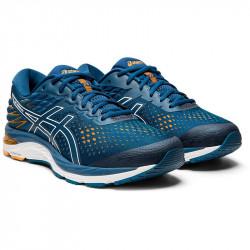 Avis et test des Asics Gel-Cumulus 21 chaussures running pour homme moyenne et longue distance - couleur bleu et blanc