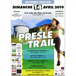 avis de coureurs sur le Presle In Trail - affiche édition 2019