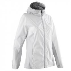 Avis de coureuses sur la Veste KALENJI Run Rain pour femme -  Couleur : Blanc glacier / BLANC / BLANC