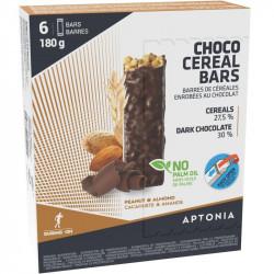 Barre de céréales Aptonia chocolat Noir Amandes Cacahuètes - conditionnement 6 barres de 30 grammes