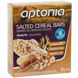 APTONIA Barre de céréales salé CLAK cacahuète 6x21g