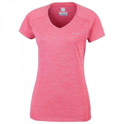 Columbia Zero Rules T-Shirt running femme - coloris corail