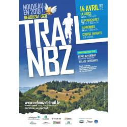 affiche de l'édition 2019 du trail de Nébouzat