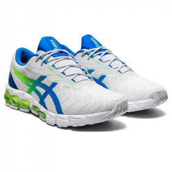 Asics Gel-Quantum 180 5 chaussures running homme - Couleur: WHITE/ELECTRIC BLUE