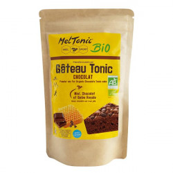 Gâteau énergétique Bio - Chocolat, Miel & Gelée Royale - MELTONIC sachet de préparation à