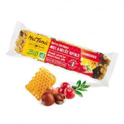 Barre céréales Bio - Cranberries & Noisettes grillées - MELTONIC- barre de 30 grammes