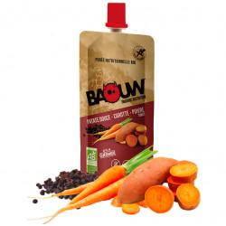 Compote energetique bio BAOUW patate douce - carotte - poivre timut