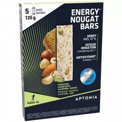 Nougat energetique Aptonia  - boîte de 5 barres