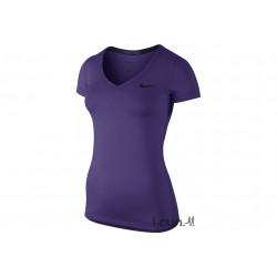Nike Pro Combat V-Neck W vêtement running femme