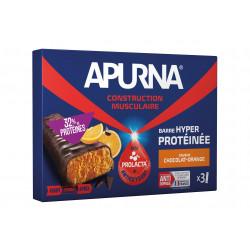 Apurna Etui Barre Hyperprotéinée - Chocolat/Orange Diététique Protéines / récupération