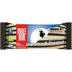 Mulebar Barre Energétique Liquorice Allsports - Réglisse/Noix de coco Diététique Barres