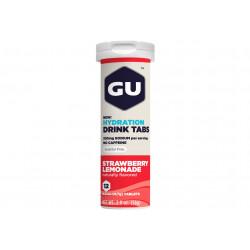 GU Tablettes Hydratation Drink - Fraise/Limonade Diététique Boissons