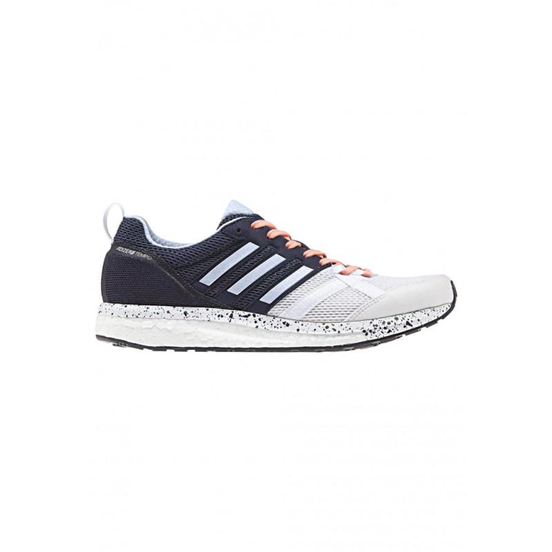 adidas adiZero Tempo 9 - Chaussures running pour Femme - Blanc