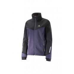 Salomon Pulse Softshell Jacket - Vestes course pour Femme - Noir 2bd990b9fb76