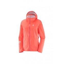 Salomon Lightning Jacket - Vestes course pour Femme - Rose