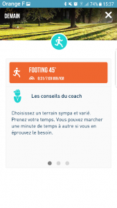 vue conseil du coach sur FREQUENCE Running par Margaux