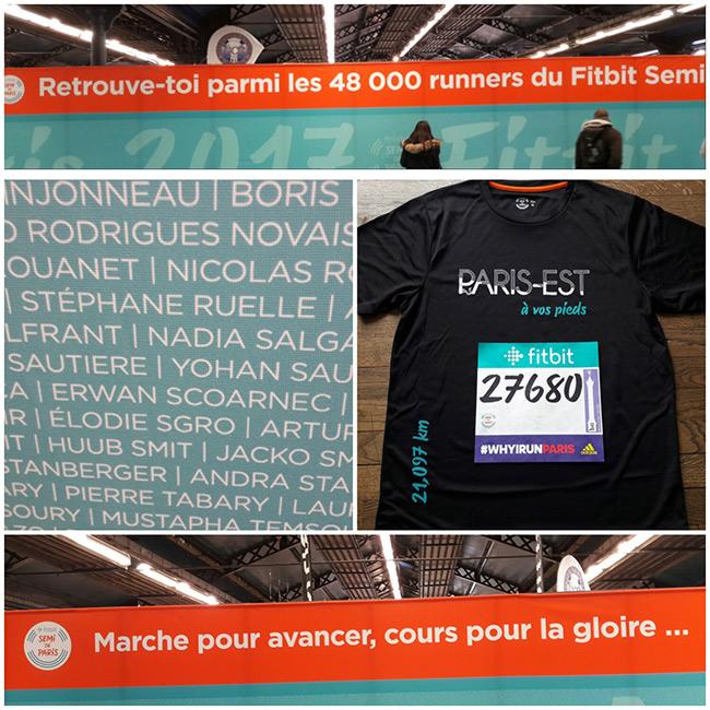 Le mur des participants au semi-marathon de Paris édition 2017