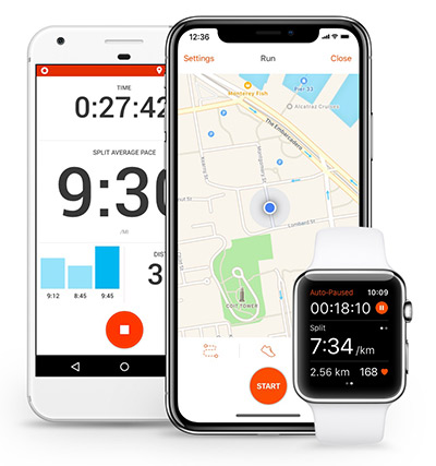 Strava application mobile running : exemple d'écrans