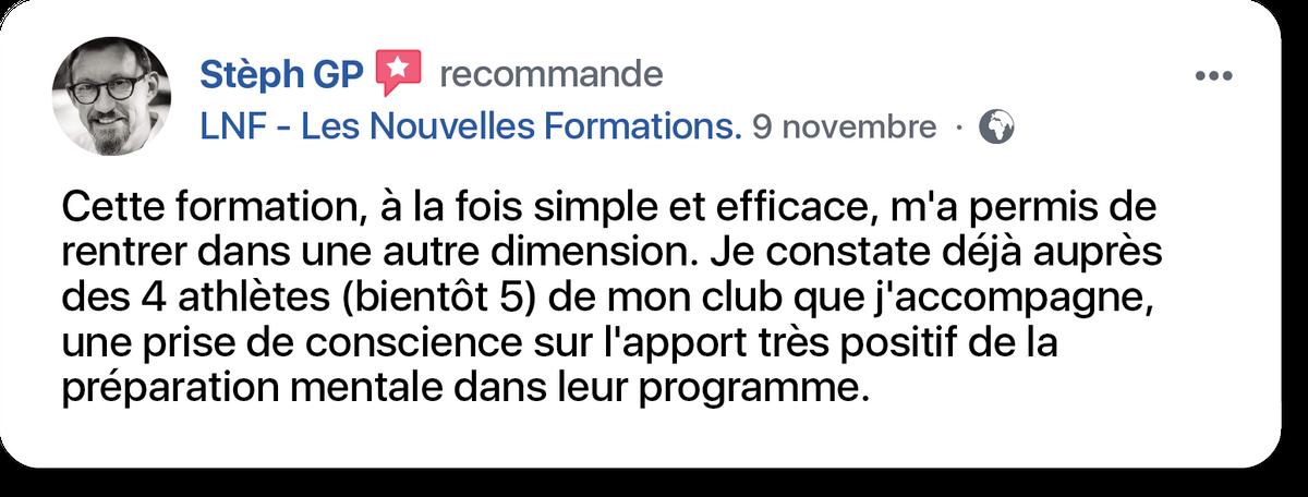 témoignage de Stéphane, certifié Les Nouvelles Formations
