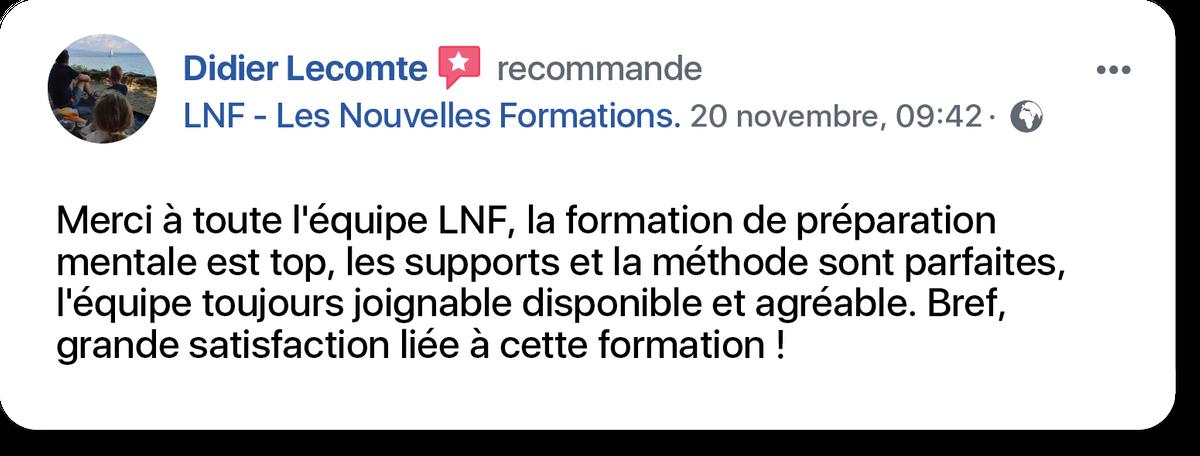 témoignage de Didier, certifié Les Nouvelles Formations
